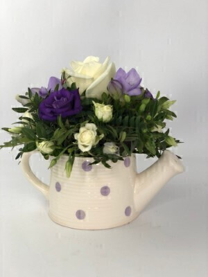 Purple Rain Watering Can: Booker Flowers and Gifts